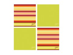 Fiesta Lemongrass Warm Stripe Coasters