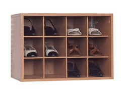 Oak 12-Compartment Closet Organizer