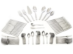 Wallace 18/10 92Pc Flatware Set-Whitney