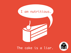 The Cake Is A Liar Zip-Up Hoodie