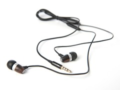 JBuds J.FiM Wood & Metal Earphones w/Mic