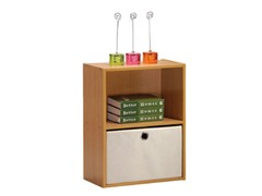 Tiada No Tools 2-Tier Shelf  w/Bin Oak
