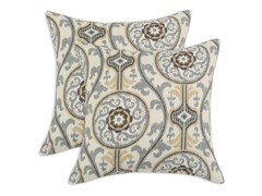 Oh Suzani 17x17 Pillows - Metal - Set of 2