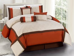 Odessa 7pc Comforter Set - Brick - 2 Sizes