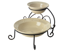 Sorrento Chip & Dip with Caddy - Ivory
