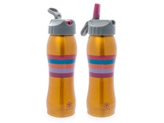 Gold Multi-Striped Stainless Steel Water Bottle 2-Pack