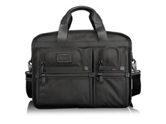 Tumi Alpha Expandable Organizer Computer Brief Black