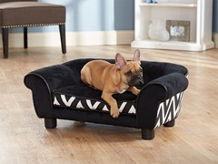 Lotus Chevron Bed - Black