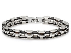 "Stainless Steel 8"" Bicycle Bracelet"