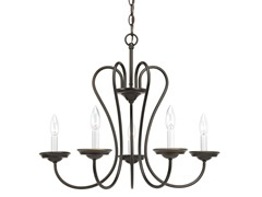 5-Light Chandelier, Antique Bronze