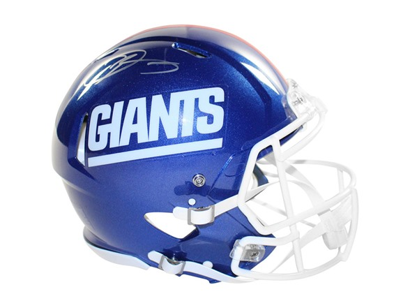 purchase cheap 4bb33 f132f Odell Beckham Jr. Signed Giants Color Rush Helmet