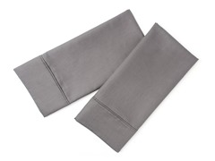 800TC Standard Pillowcase Set - Steel