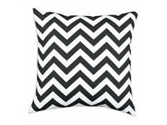 Zig Zag Black 26x26 Floor Pillow