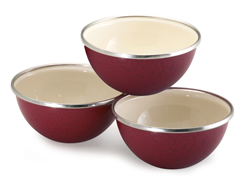 3-pc Prep Bowl Set - 2 Colors
