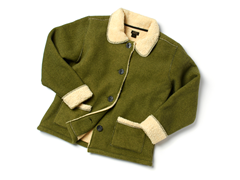 Acorn Full-Button Sherpa Jacket
