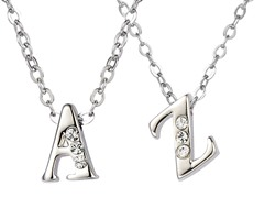 Initial Necklaces Made with Swarovski Elements