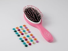 Pink Brush w/Heart Stickers