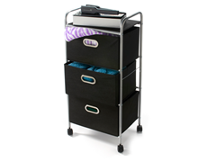 "35"" Rolling Fabric Storage Cart"