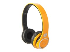 Stereo Bluetooth Headphones w/Mic - Orange