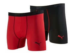 Puma Boy Briefs 2pk - Red/Black (6/7)