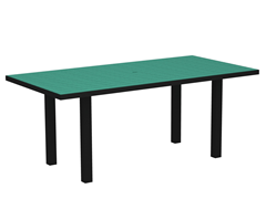 Euro Dining Table, Black/Aruba