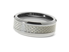 Tungsten Basketweave Pattern Ring