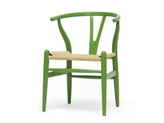 Wishbone Chair - Green Wood Y Chair