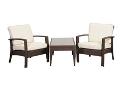 3-Piece Tahiti Wicker Conversation Set