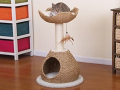 "29"" Paper Rope Cat Condo and Perch"