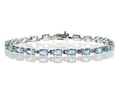 Sterling Silver & Blue Topaz Bracelet