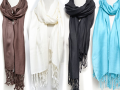 4-Pack Scarves with Satin Finish