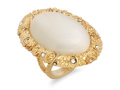 18kt Gold Plated Mother of Pearl Ring