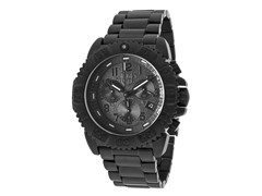 Men's Chrono Black Ion-Plated SS
