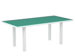 Euro Dining Table, White/Aruba