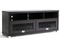 Baxton Swindon TV Stand w/Glass Doors