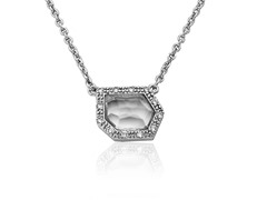 Riccova Retro Layering Rhod Pl Necklace CZ  Clear Glass Accent Set