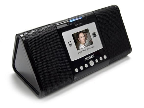 jensen fm alarm clock radio with 65k color oled display. Black Bedroom Furniture Sets. Home Design Ideas