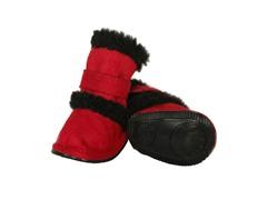 Red Shearling Duggz Shoes