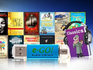 e-GO! Library 550 Preloaded Classic AudioBooks