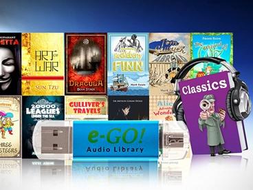e-GO! Library 550 Preloaded Classic AudioBooks