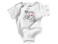 """Biking with Baby"" in White (6-12 mos)"