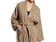 Organic Cotton Jersey Knit Robe - Earth