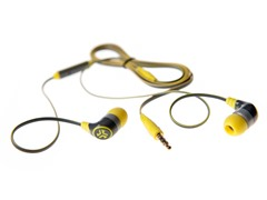 Diego Earphones w/Inline Mic - Yellow/Grey