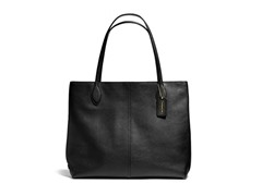 Coach Key Items Leather Tote - Brass/Black