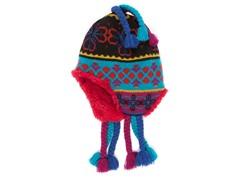 Flower Fairisle Tassel Helmet