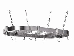 "Oval Pot Rack 20""x40"" - Stainless Steel"