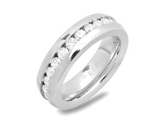 Stainless Steel Band Ring w/ Inlay