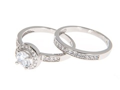 18kt White Gold Elevated CZ Engagement