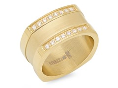 18kt Plated Ring w/ Sim. Diamonds