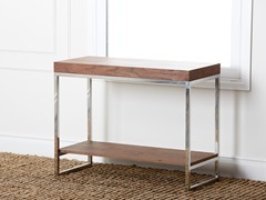 Walnut Solid Oak Wood & Metal Console